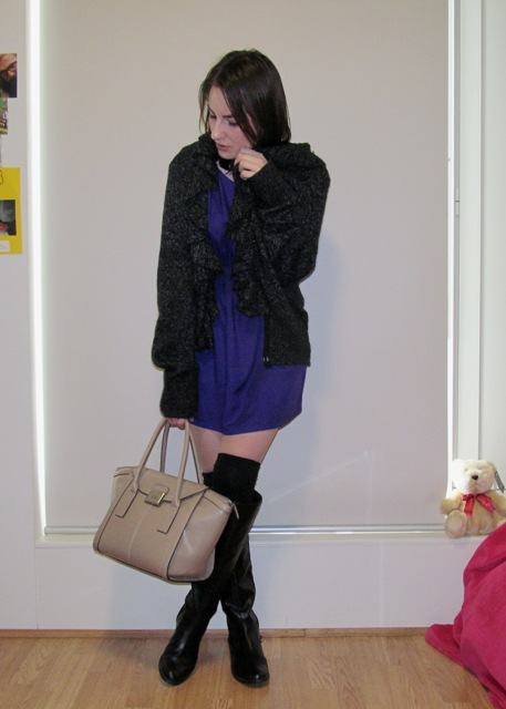 Cardigan and Boots