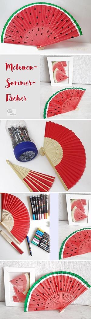 Wie malt man einen Wassermelonenfächer