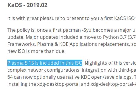 Availability of KDE Plasma 5 15 on GNU/Linux Distros