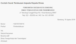 Contoh Surat Tembusan Kepada Kepala Dinas Info Makalah
