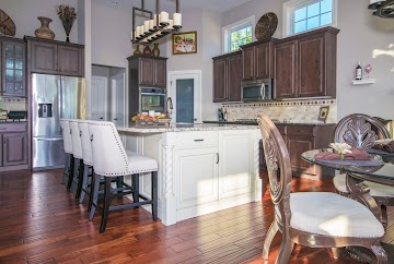 White Leather Chairs in the Kitchen