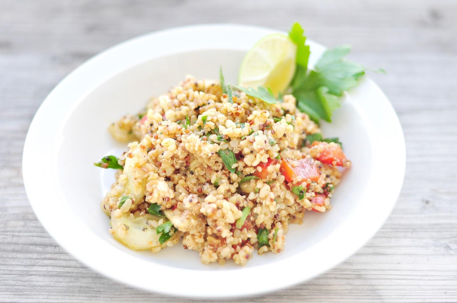 prosty przepis sałatka bulgur i quinoa