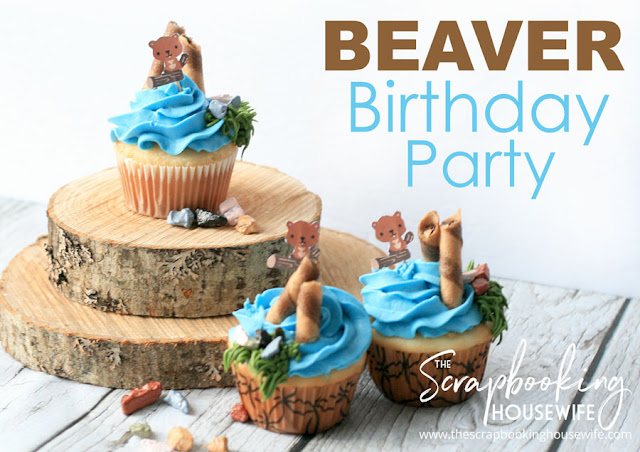 BEAVER-THEMED 8th BIRTHDAY PARTY WITH DIY WOODCHIP CHALKBOARD ORNAMENTS