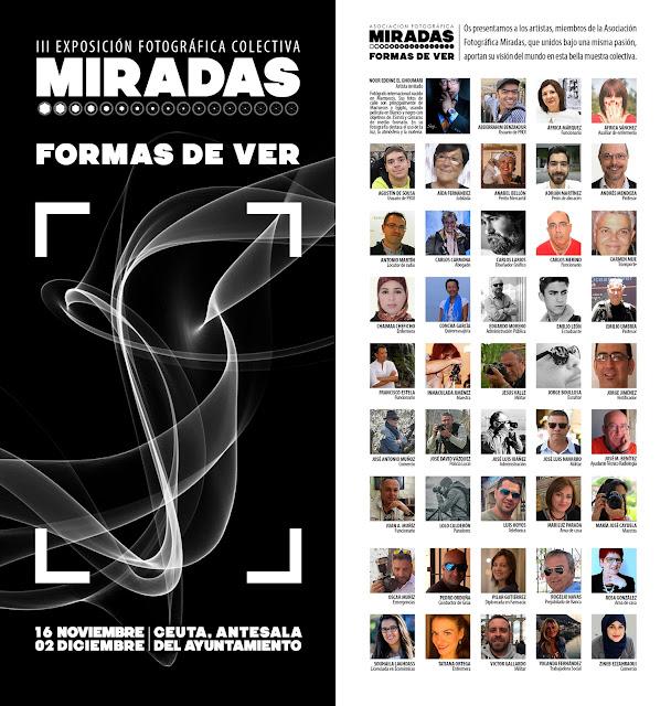 Folleto de la III Exposición Fotográfica Colectiva Miradas - Formas de ver