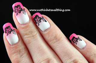 gradient nail art water decal