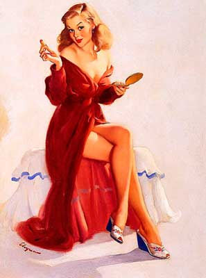 Gil Elvgren pin-up red