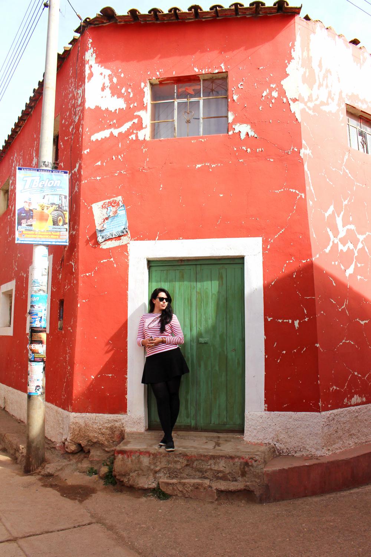 Colourful buildings in Pucara, Peru - travel & culture blog