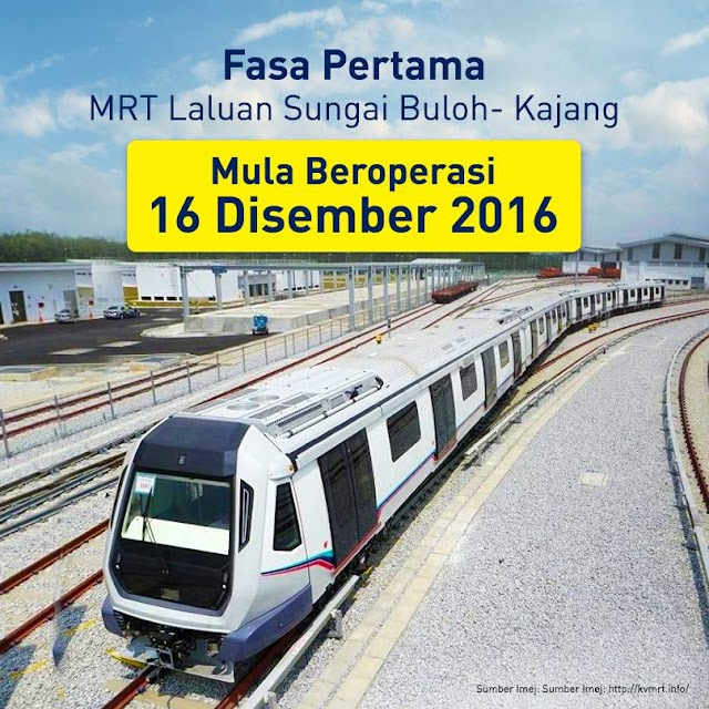 Fasa Pertama MRT Mula Pada 16 Disember 2016 #SPAD