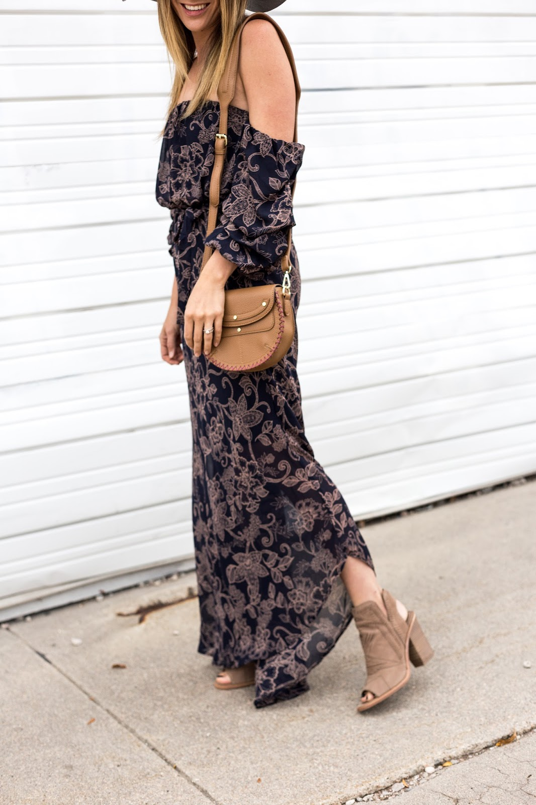 Transitioning Your Favorite Summer Floral Maxi Dress Into Fall by Colorado fashion blogger Eat Pray Wear Love