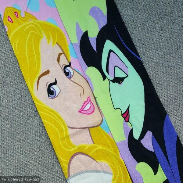 Aurora Maleficent Sleeping Beauty character tights flatlay