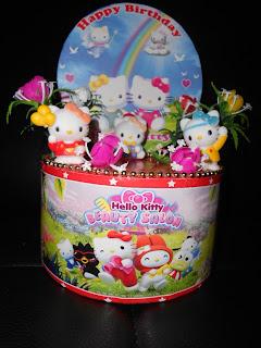 Hiasan Kue Ultah Dummy Cake Kue Palsu Hello Kitty