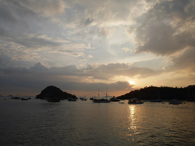 First sunset in Labuan Bajo!