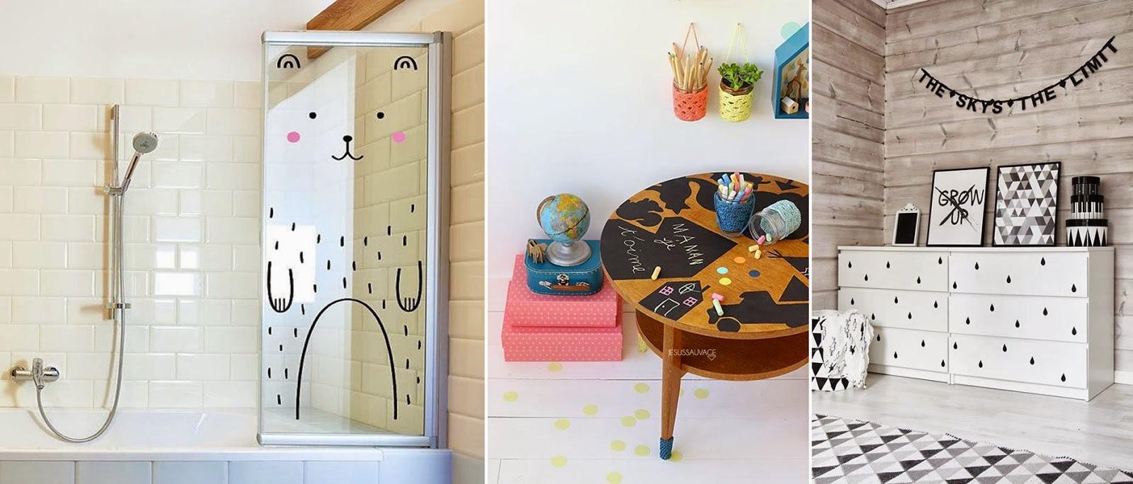 9 ideas para intervenir muebles infantiles m s chicos for Pegatinas infantiles para muebles