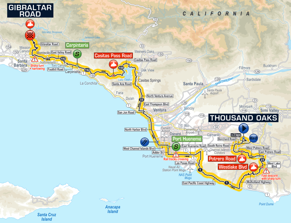 Tour Of California Stage  Route
