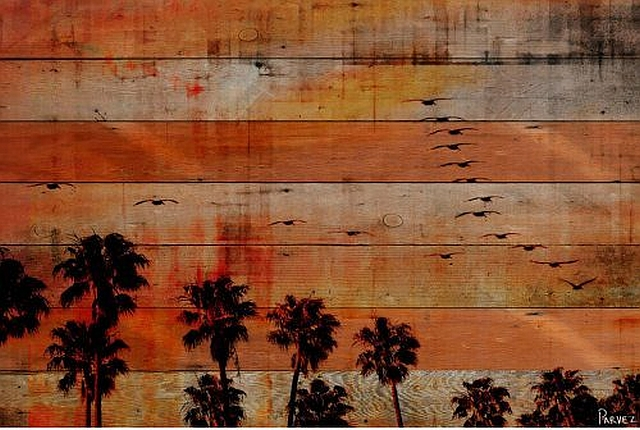 Sunset Coast Diy Reclaimed Wood Wall Art