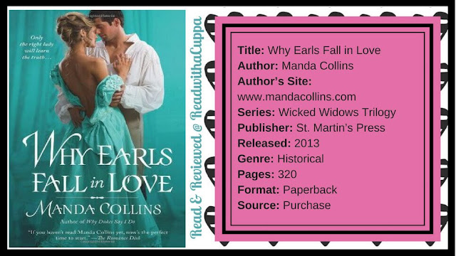 Murder, mayhem and the boundaries of social class. Book Review | Why Earls Fall in Love by Manda Collins. www.readwithacuppa.com
