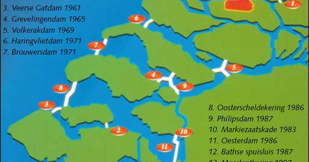 Zeeland Holland Karte.Deltawerken Deltawerken Zeeland En Zuid Holland Vakantie