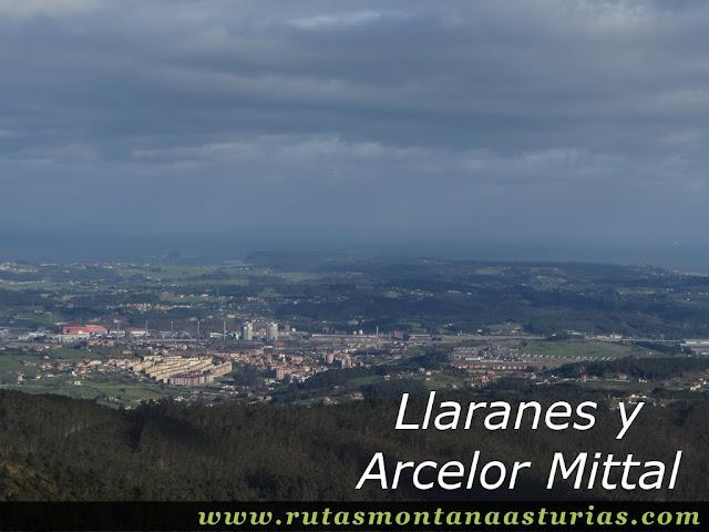 Vista de Llaranes desde el Gorfolí