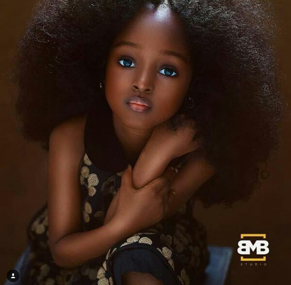 Photos: A 5-year-old Nigerian gilr trending on social media as the Most beautiful girl in the world
