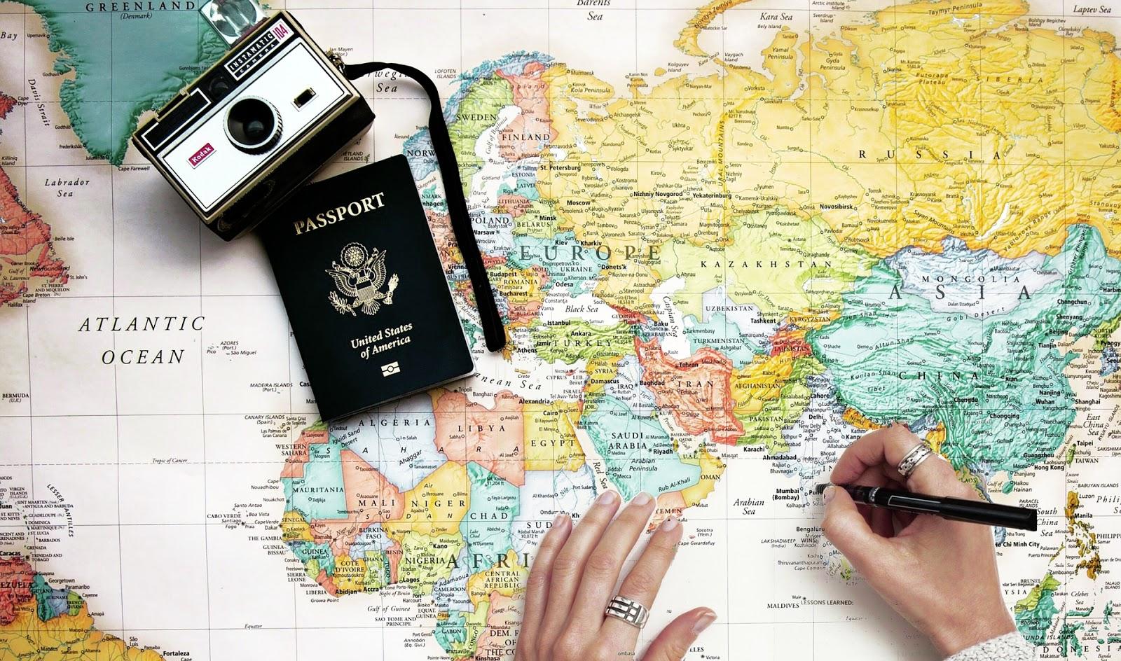 mapa, świat, aparat