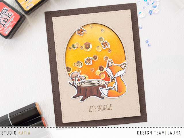 Fall-themed-shaker-card-studio-katia-foxes