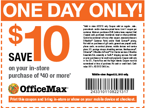 About Office Depot and OfficeMax Coupons, Deals and Cash Back Shop Office Depot and OfficeMax for low prices on all things office supplies, from packs of printer paper to ink, toner and electronics to office furniture and so much more.