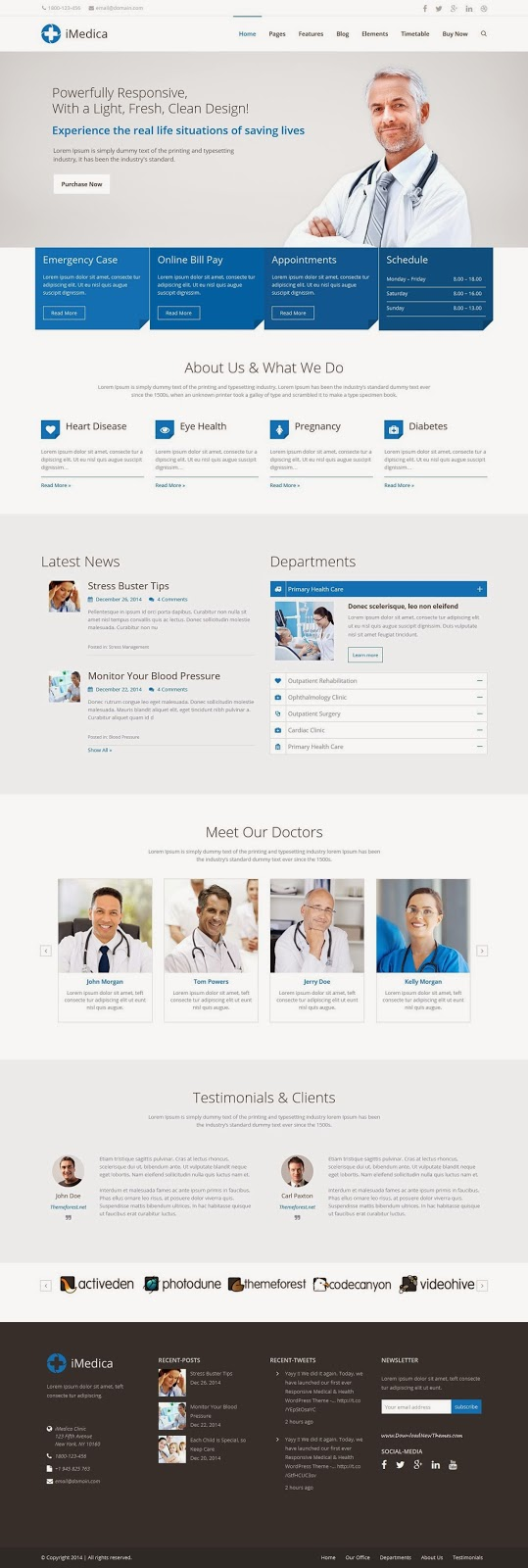 Responsive Medical and Healthcare WordPress Theme