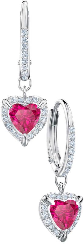 Swarovski Heart Crystal Drop Earrings