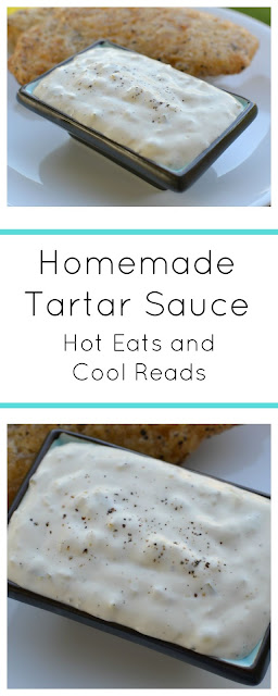 Skip the store bought stuff and make your own! Ready in less than 5 minutes and SO tasty! Homemade Tartar Sauce Recipe from Hot Eats and Cool Reads