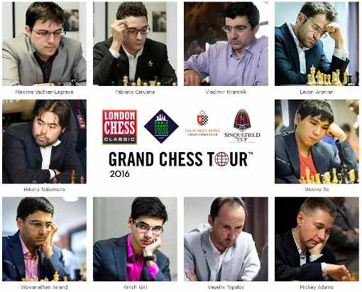 Les participants au London Chess Classic 2016