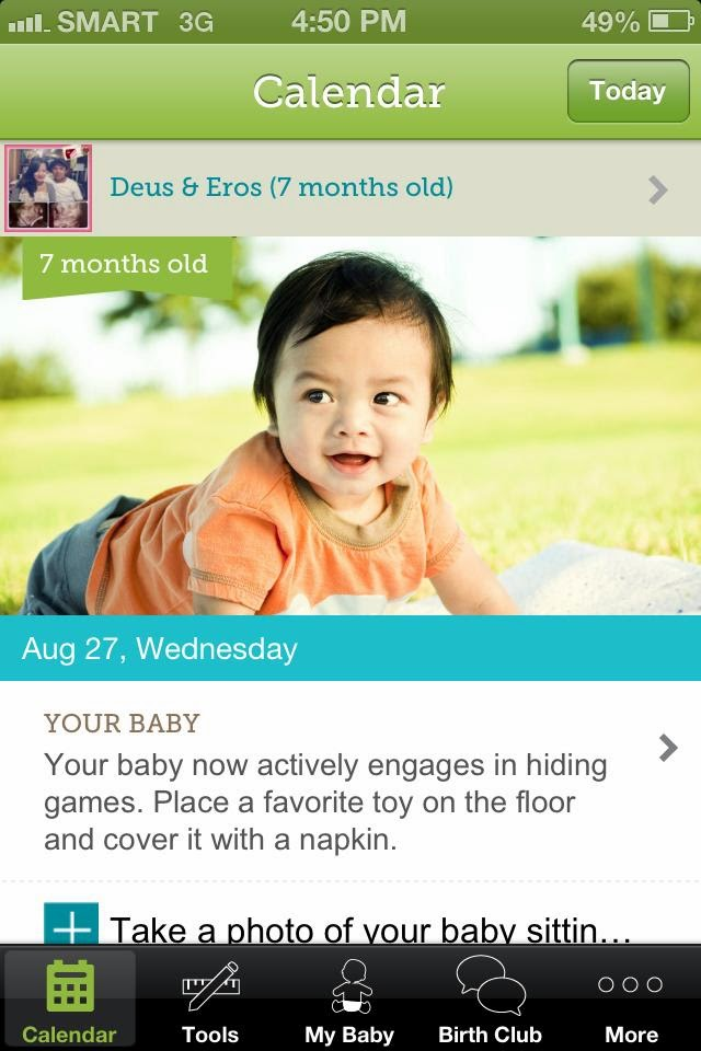 My Baby Today / Babycenter App