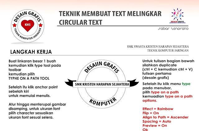 text melingkar