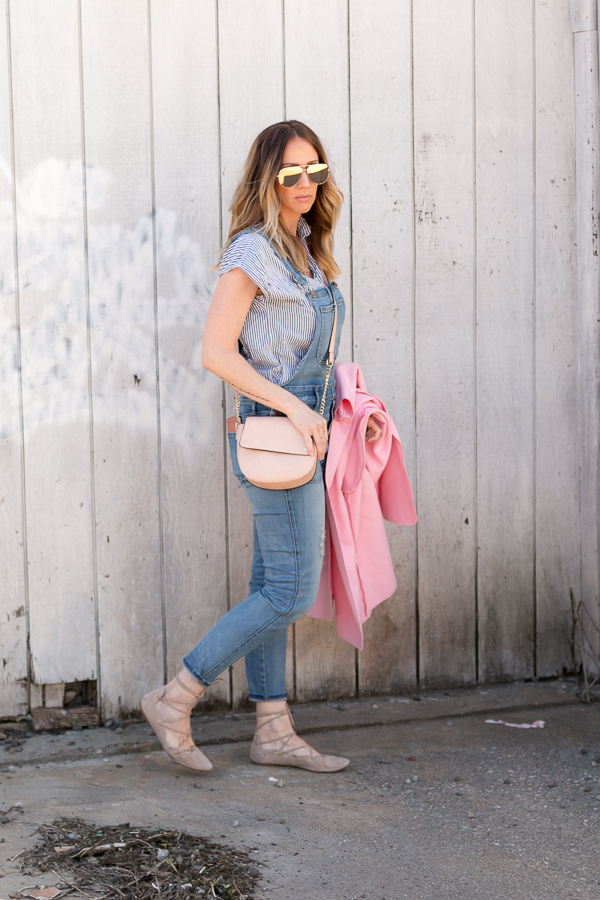 blush cross body bag gold mirrored aviators