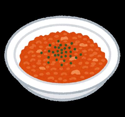 トマトリゾットのイラスト
