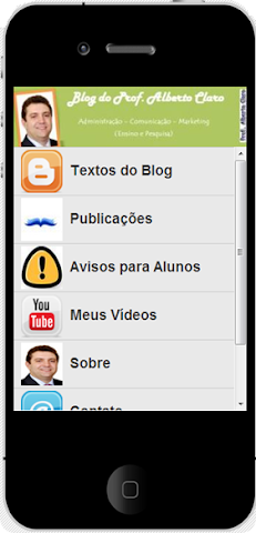 App do Blog do Prof. Alberto Claro