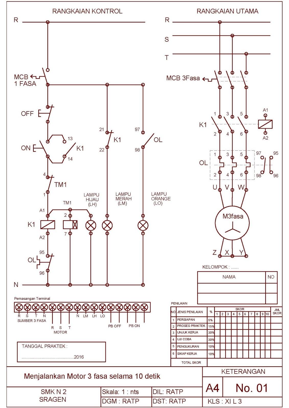 Job Sheet Praktek Instalasi Motor Listrik Tema