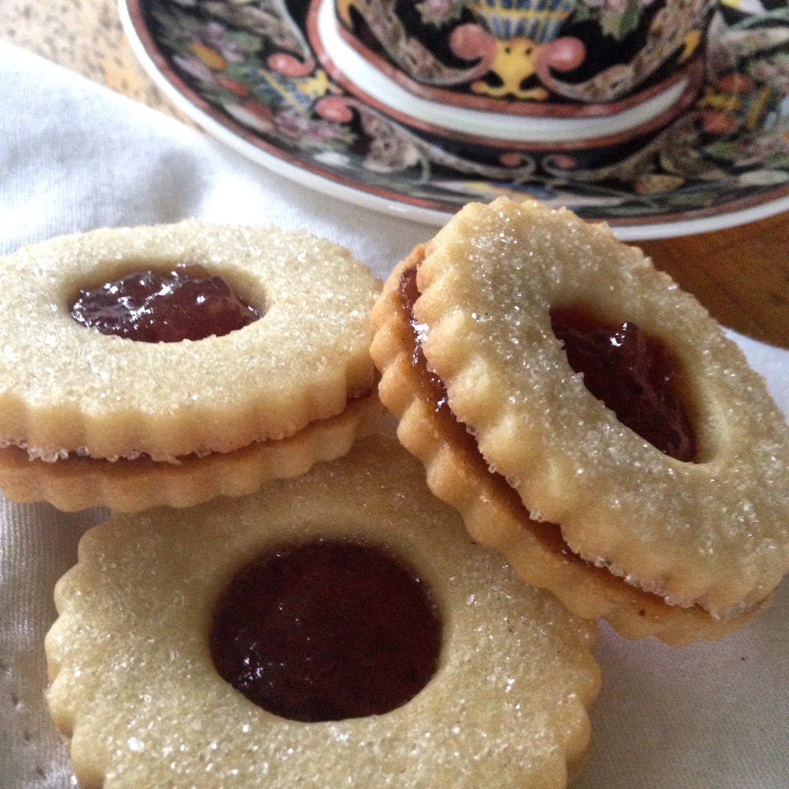 Start the year off with some sweet Sugarplum Linzer Cookies.