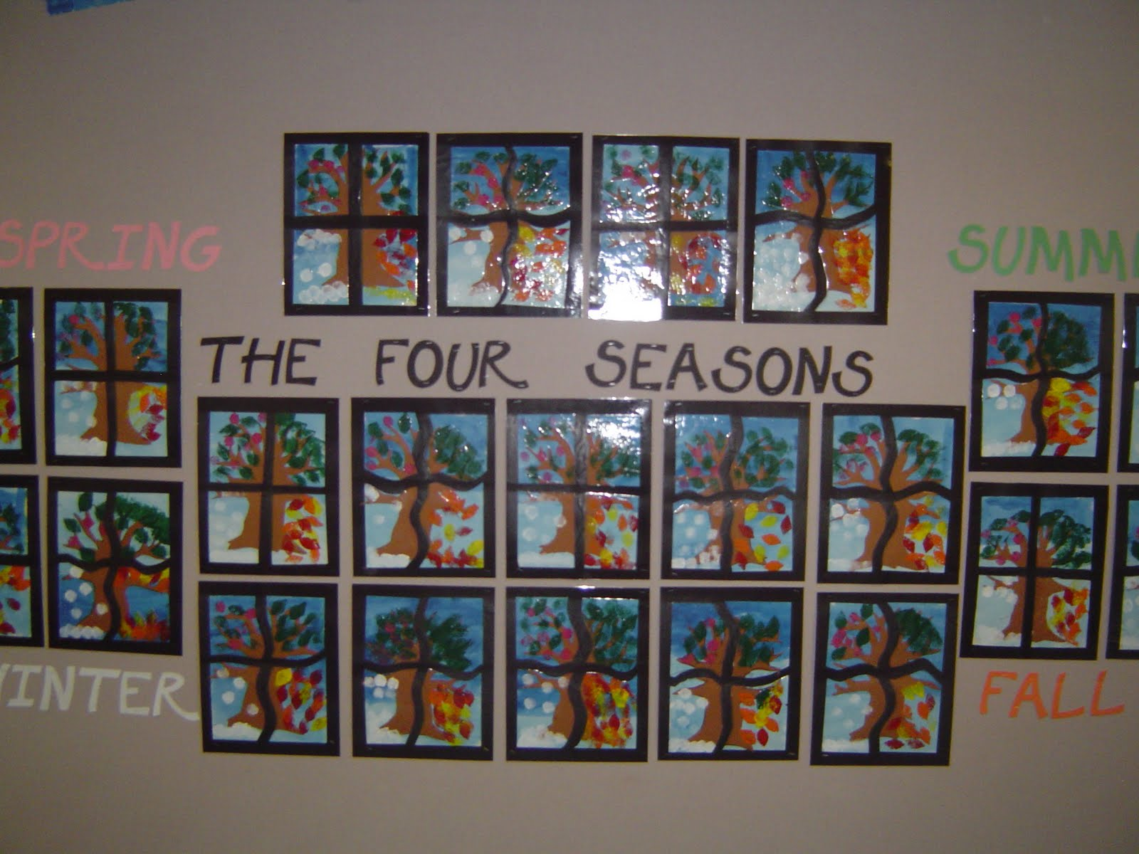 Mrs T S First Grade Class The Four Seasons