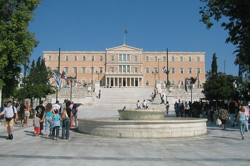 Parliament Buildings Syntagma Square Athens, Greece.