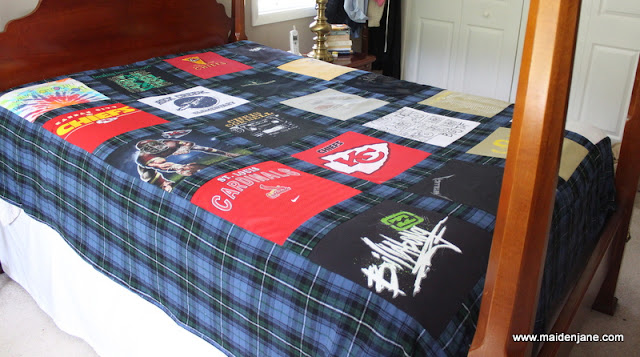 Custom T Shirt Quilt Duvet – Queen Size – Comforter Cover