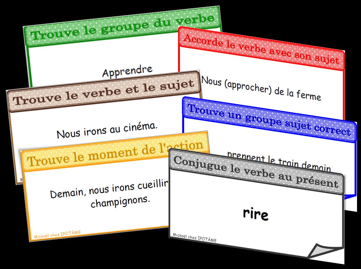 trouver le groupe du verbe, accorde le verbe avec son sujet,Trouve le verbe et le groupe sujet ,Trouve un groupe sujet correct, trouve le moment de l'action , conjugue le verbe au présent
