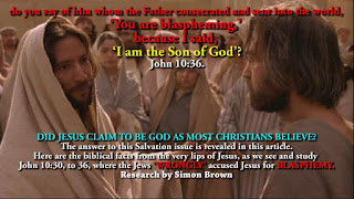DID JESUS CLAIM TO BE GOD, AS MOST CHRISTIANS BELIEVE?