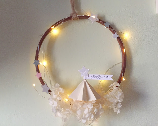 Ghirlanda con albero origami di Natale