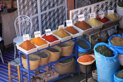 Especias en el zoco de Marrakech