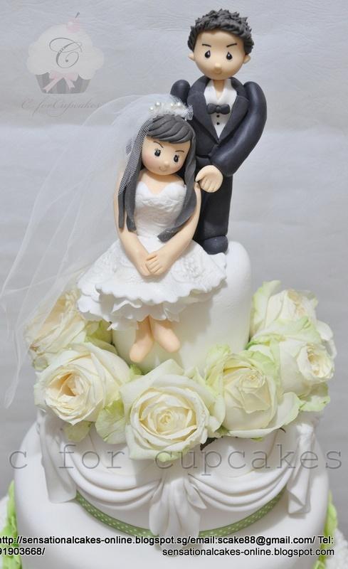 The Sensational Cakes Perfect White Romantic Wedding Cake Singapore