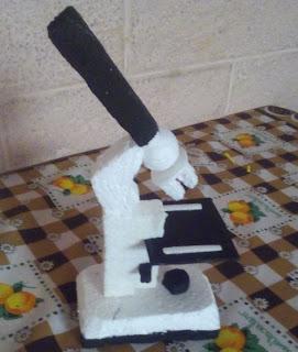 maqueta de un microscopio facil, como hacer microscopio maqueta