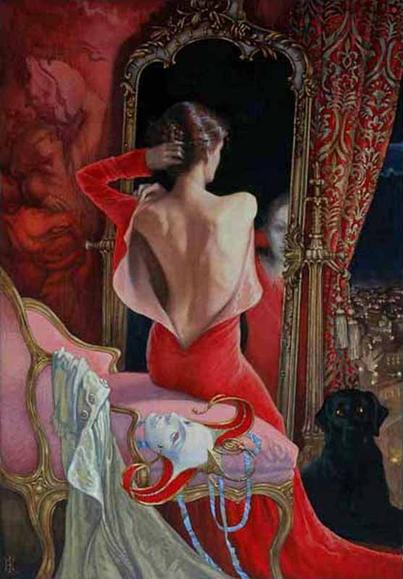 The Red Mask | Elena Kukanova [Елена Куканова] 1979 - Russian painter