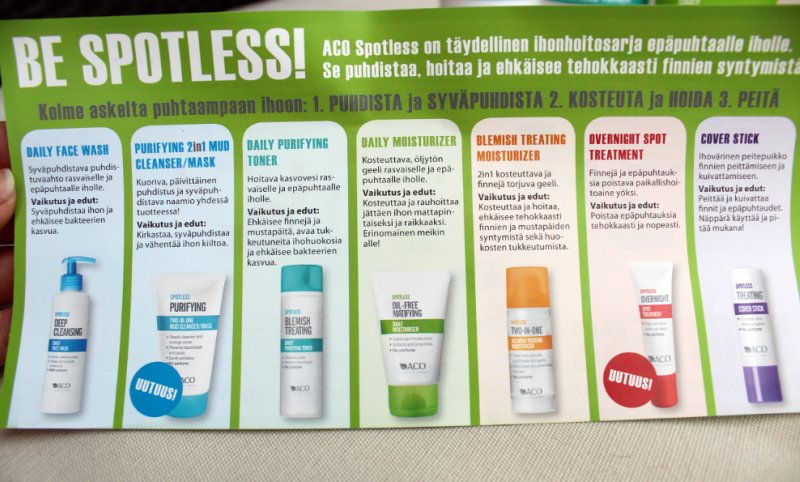 aco spotless daily face wash review