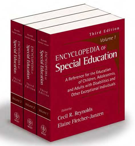 Encyclopedia of Special Education (3 Volume Set) 3rd Edition -True PDF Download