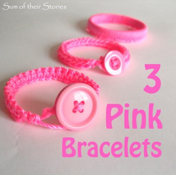 3 Pink Bracelets
